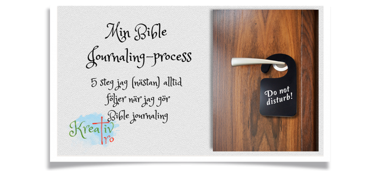 sätt att göra bible journaling