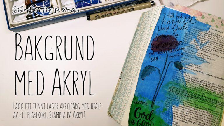 Bible Journaling med akryl