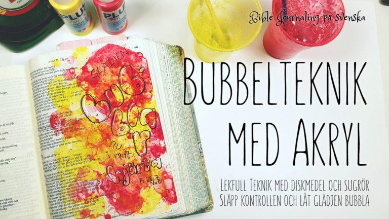 Bible Journaling bubblor