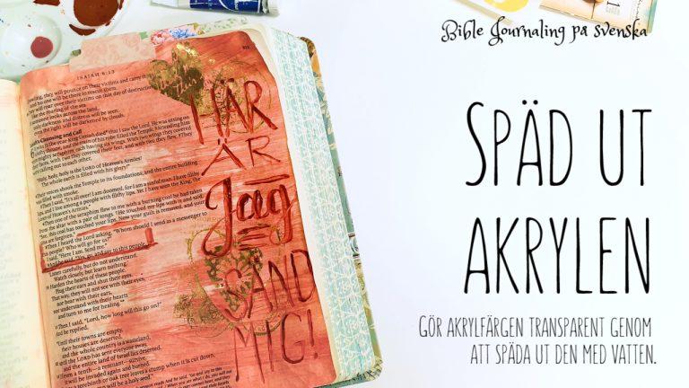Måla akryl Bibeln