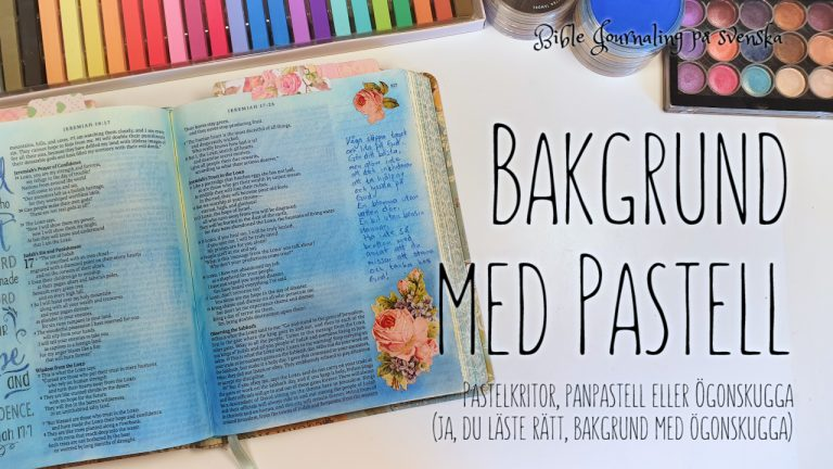 Pastellbakgrund BIble Journaling