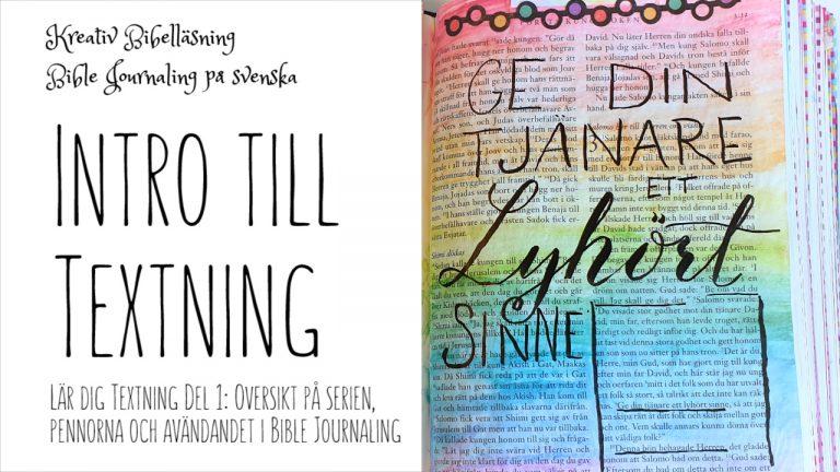 Textning och handlettering i bibeln