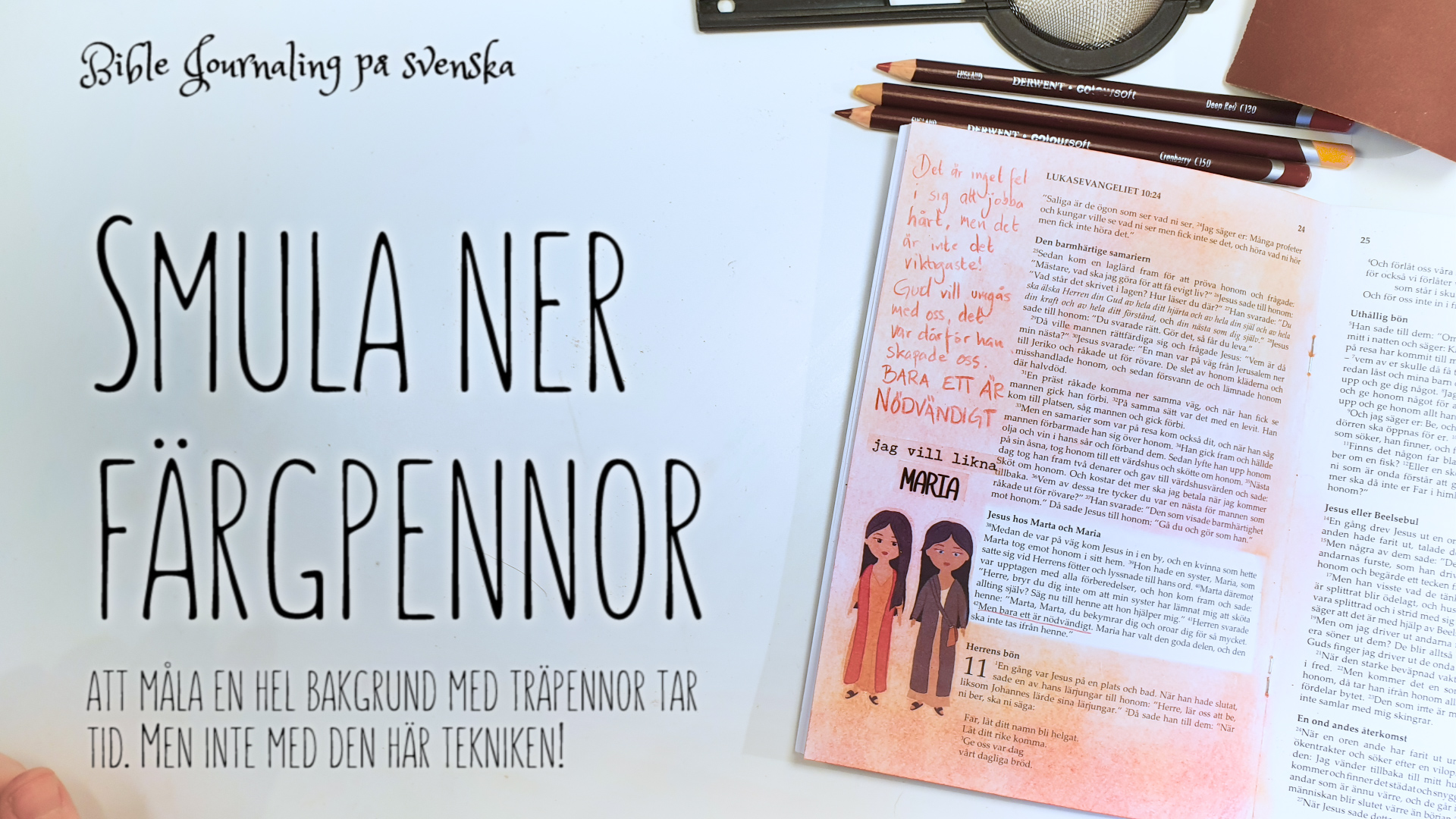 Bible Journaling smulad träpenna