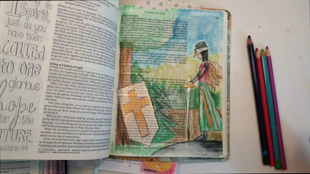 Akvarellträpennor till bibeln